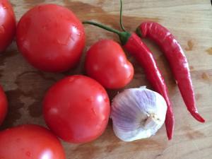 Zutaten für Tomatensalsa