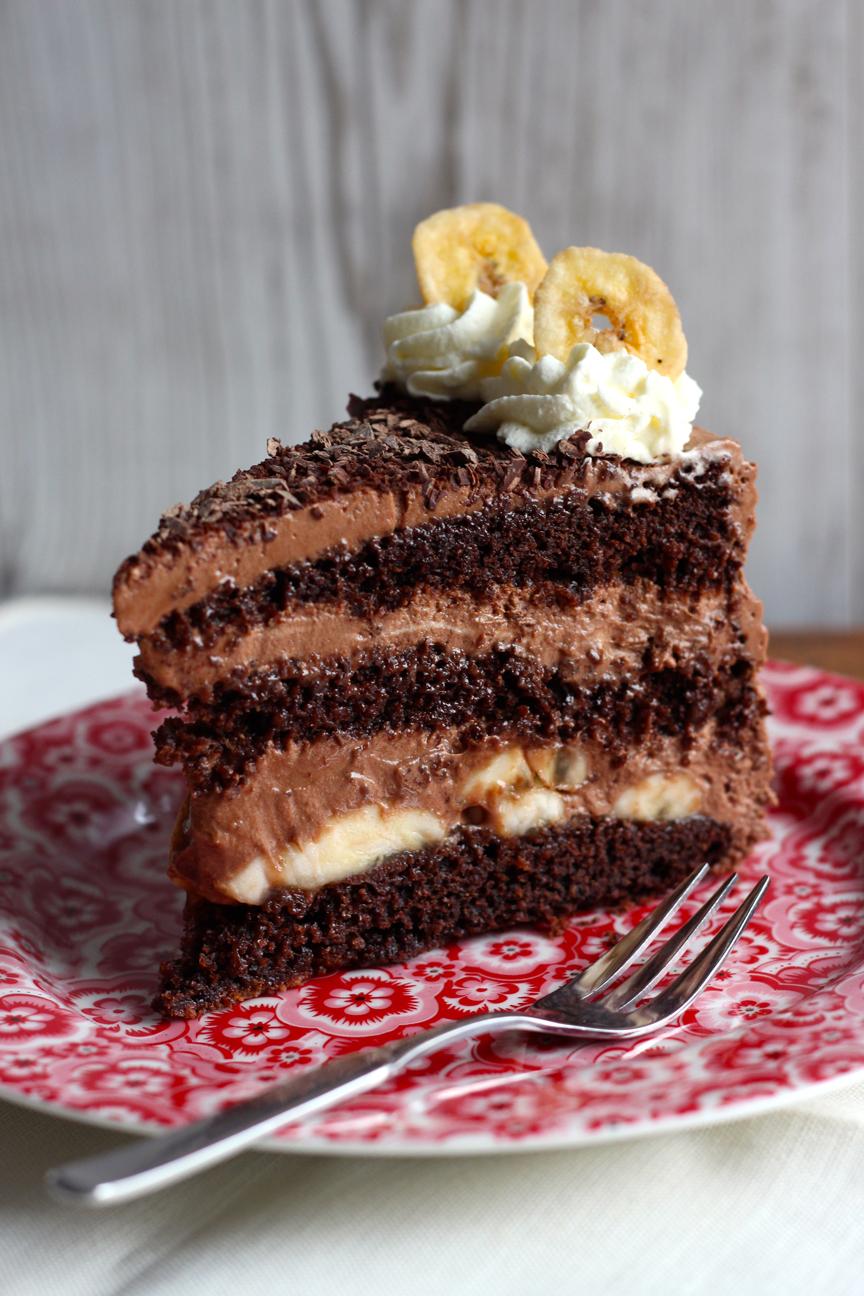 Schoko Torte Mit Banane Die Feinschmeckerin