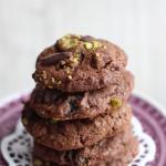 Salty-Schoko-Cookie mit Kirschen und Pistazien