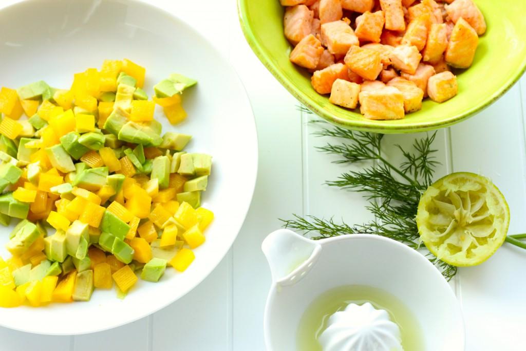 Lachs-Avocado-Paprika