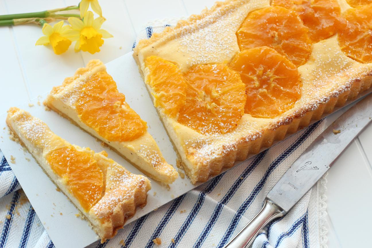 Quarkkuchen mit Orange
