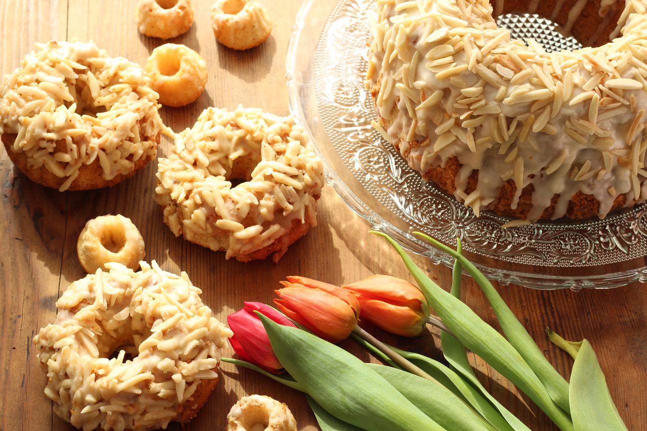 Amaretto-Kuchen dreimal anders